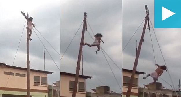 Easter horror: Watch Jesus actor falls off a cross in