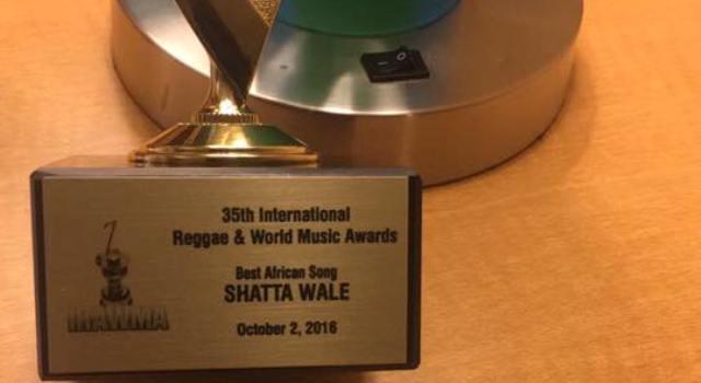Shatta Wale wins Best African Song Award at IRAWMA 2016