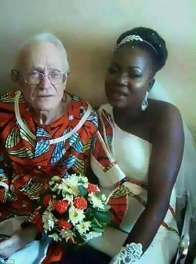 African bride, 29, comes under fire after marrying 'wealthy' 92-year-old businessman