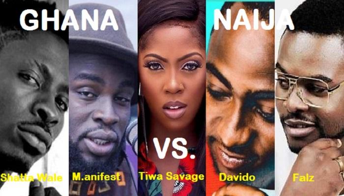 2017 GHANA MEETS NAIJA: Shatta Wale, M.anifest 'face off' with Davido, Falz, Tiwa Savage