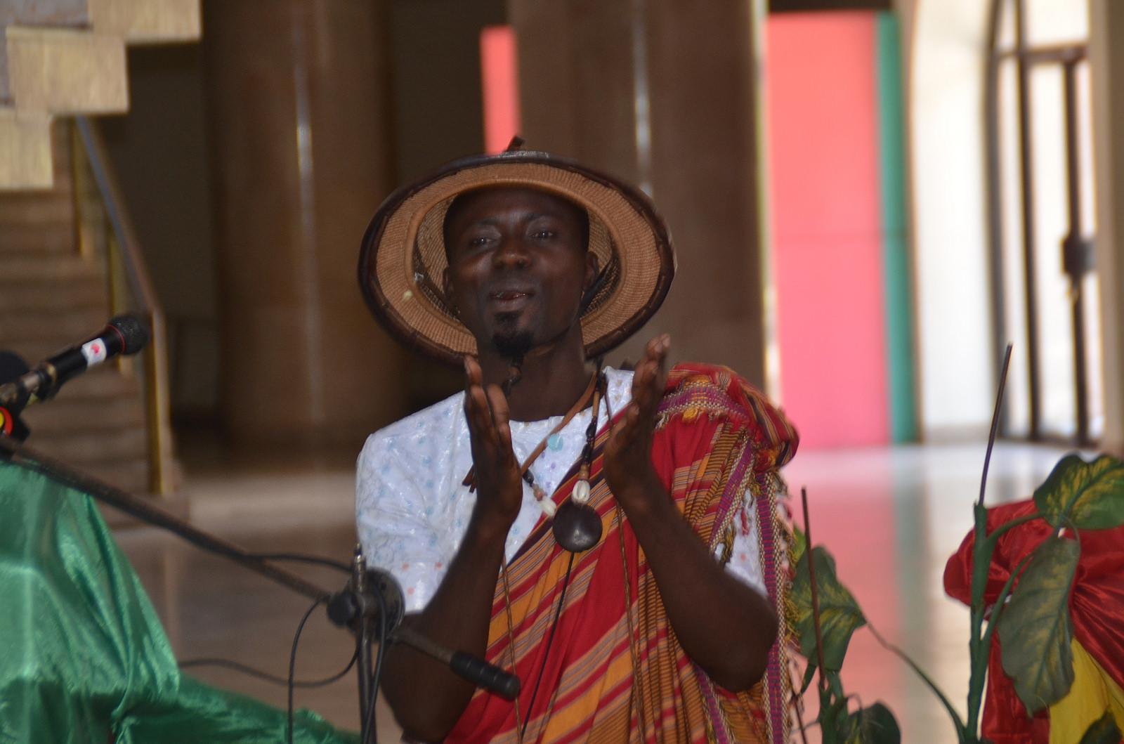 Poet Oswald performs in Uganda