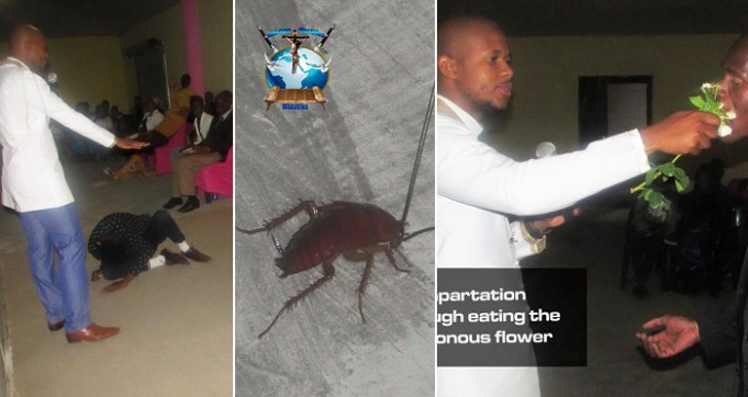 South African Pastor feeds people Cockroaches