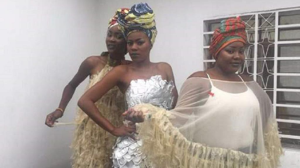 DR Congo's condom dress designer aims to help in AIDS combat