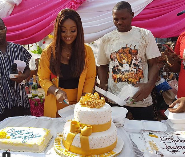 PHOTOS + VIDEO: Jackie Appiah celebrates Birthday with widows and aged women at Krobo Odumase