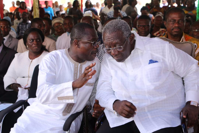 Kufuor justifies spending his 79th birthday with Jospong CEO