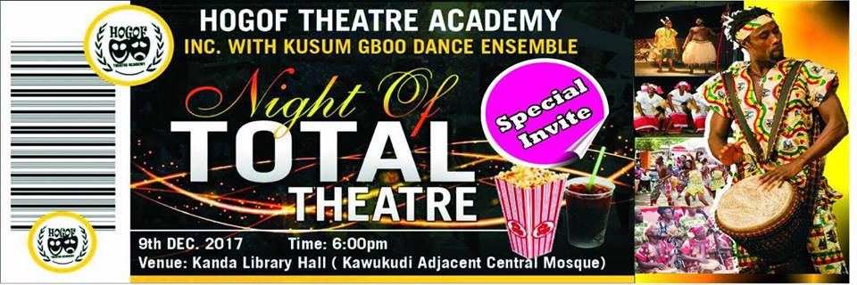 2017 Night of Total Theatre slated for Dec. 9