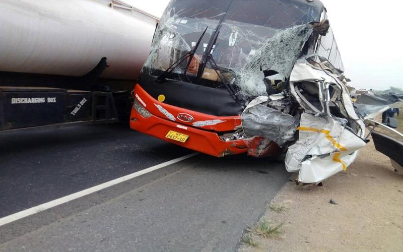 E/R: Two dead as VVIP Bus crashes into Toyota Hiace at Okanta