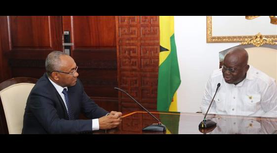 CAF President Ahmad pays courtesy call on Ghana President Akufo-Addo