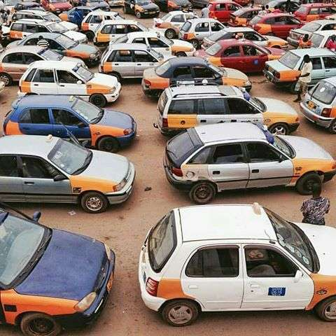 Commercial Taxi Drivers protest against Uber