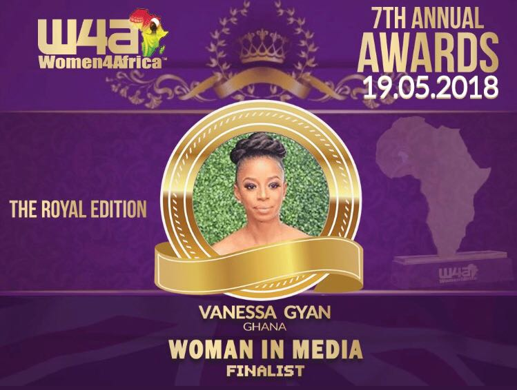 Vanessa Gyan gets major lift as only Ghanaian nominated for Women4Africa Awards 2018