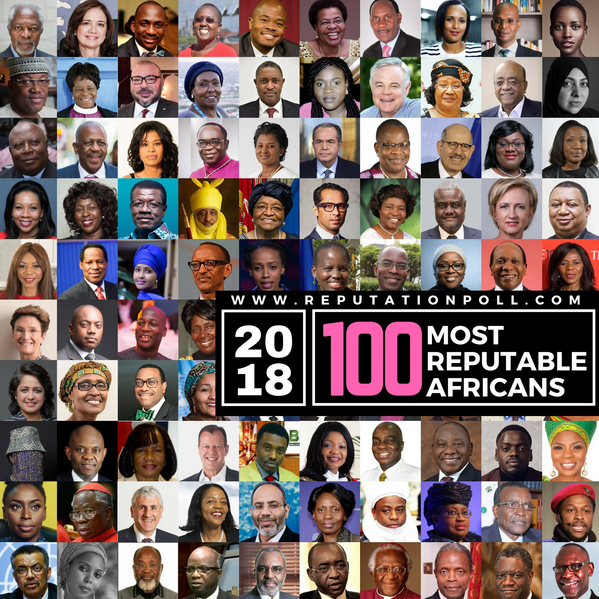 Martin Amidu, Mensa Otabil, Kofi Annan make Reputation Poll's 2018 100 Most Reputable Africans