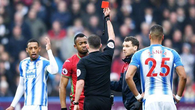 Swansea decide against appealing Jordan Ayew red card