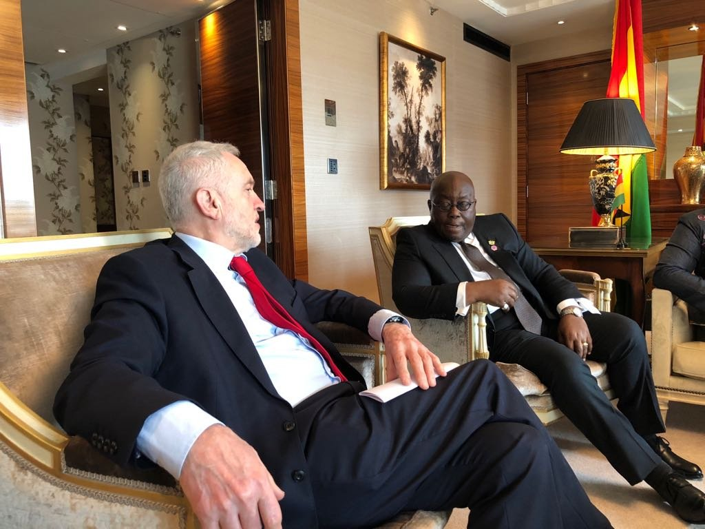 Akufo-Addo, Head of Labour Party discuss Ghana-US military deal