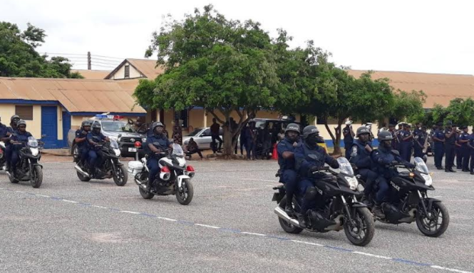 Ghana Police launches motorbike patrol for Neighbourhood safety