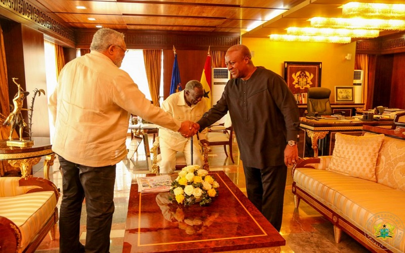 Forgive me for insulting you – Rawling begs Kufuor, Mahama