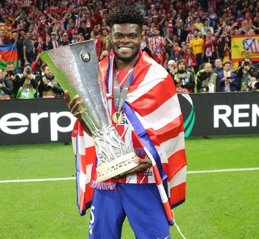 Thomas Partey wins UEFA Europa league with Atletico Madrid