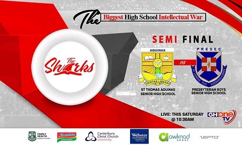 The Shark Quiz: PRESEC, Legon and St. Thomas Aquinas battle for a place in the finals