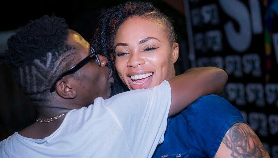 WATCH: Shatta Wale kisses Shatta Michy to celebrate their re union