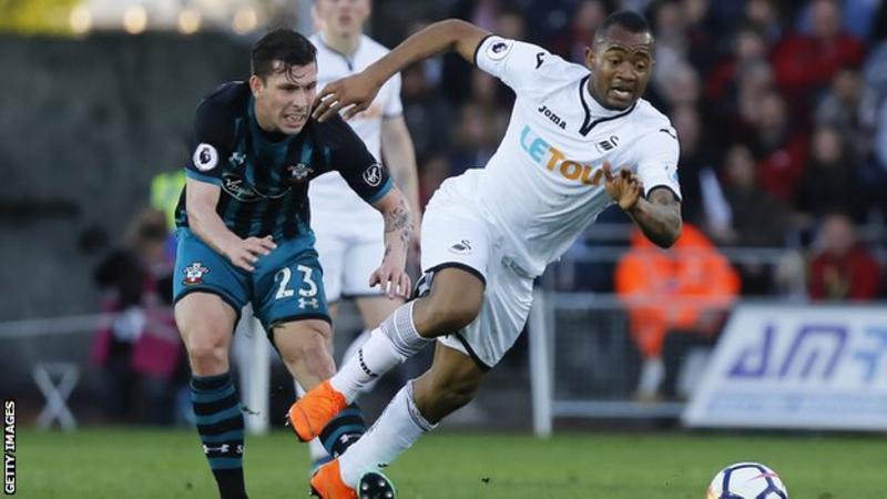 Swansea's Jordan Ayew joins Crystal Palace on loan