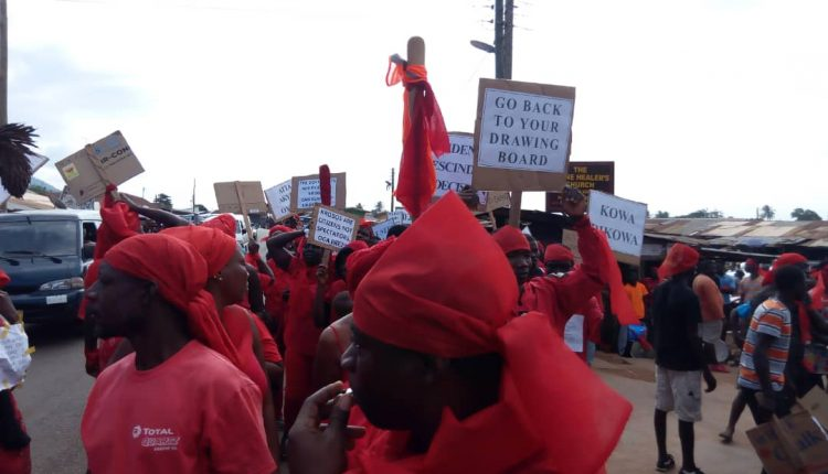 Krobo group protest over relocation of University campus