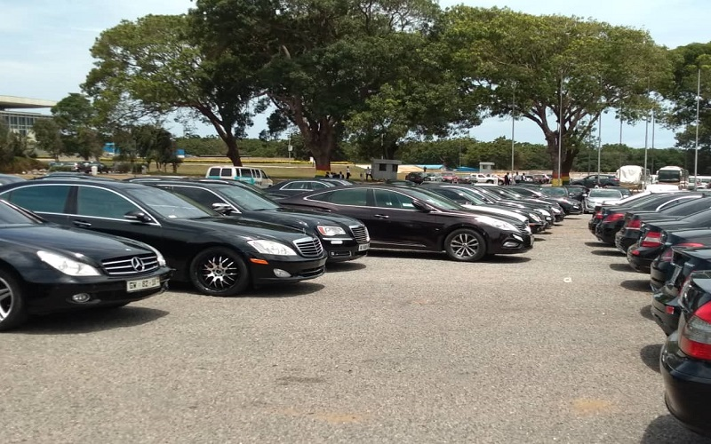 State Protocol hires cars to meet high car demands for Kofi Annan's funeral
