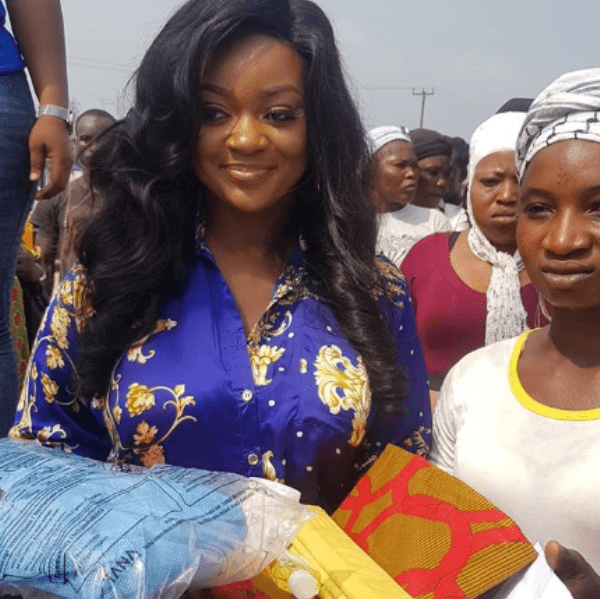 Actress Jackie Appiah shows love to Agbogbloshie Market women on her 35th birthday